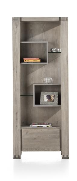Avola, Boekenkast 1-lade + 5-niches – 190 Cm