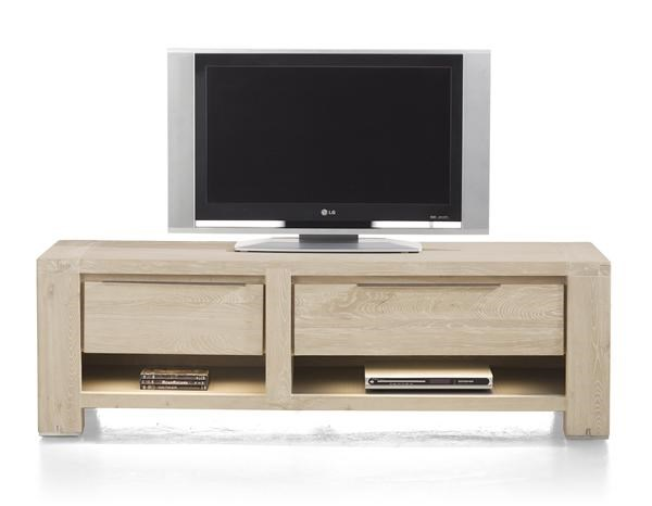 Buckley, Tv-dressoir 1-lade + 2 Niches + 1-klep 150 Cm (+ Led)