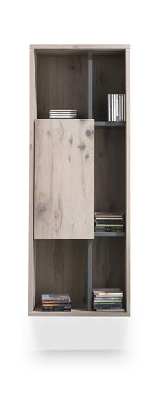 Eivissa, Hangkast 1-deur + 5-niches – 45 Cm
