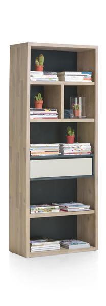 Jade, Boekenkast 1-lade + 6-niches – 75 Cm
