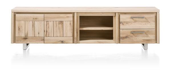 more lowboard 2 deuren 2 laden 2 niches 220 cm rvs henders hazel meubelen bijzonder. Black Bedroom Furniture Sets. Home Design Ideas