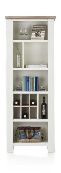 Tibro, Boekenkast 6-niches + 6-wijnvakken – 70 Cm