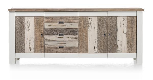Tibro, Dressoir 3-deuren + 3-laden – 210 Cm