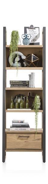 Metalo, Boekenkast 1-lade + 5-niches – 65 Cm